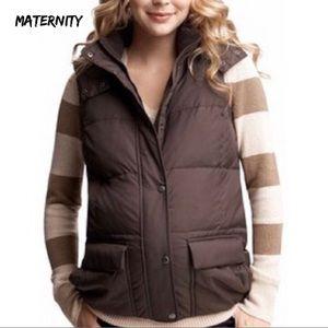 Maternity vest GAP brown detachable hood XS